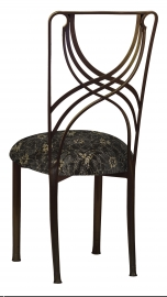 Bronze La Corde with Black Lace with Gold and Silver Accents over Black Knit Cushion
