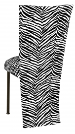 Black and White Zebra Jacket and Cushion on Brown Legs