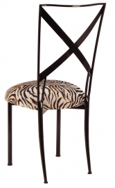 Blak. with Zebra Stretch Knit Cushion