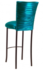 Metallic Teal Chloe on Brown Legs
