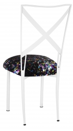 Simply X White with Black Paint Splatter Cushion