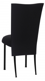 Black Linette 3/4 Chair Cover with Boxed Cushion on Black Legs