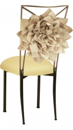 Champagne Bloom with Buttercream Knit Cushion on Brown Legs