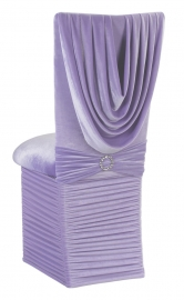 Lavender Velvet Cowl Neck Chair Cover, Cushion and Skirt