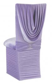 Lavender Velvet Cowl Neck Chair Cover, Cushion and Skirt