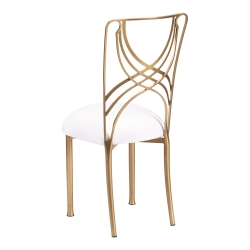 Gold La Corde with White Stretch Knit Cushion