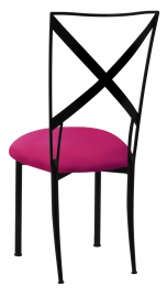 Blak. with Fuchsia Stretch Knit Cushion