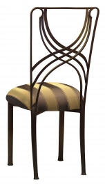 Bronze La Corde with Gold & Brown Striped Cushion