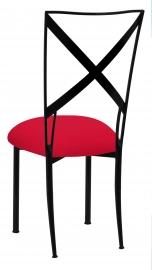 Blak. with Million Dollar Red Stretch Knit Cushion