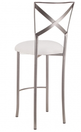 Simply X Barstool with White Suede Cushion