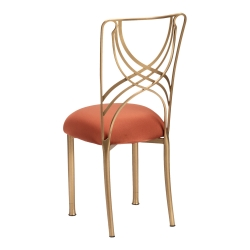 Gold La Corde with Copper Stretch Knit Cushion