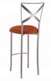 Simply X Barstool with Copper Stretch Knit Cushion