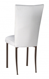 White Linette Chair Cover and Cushion on Brown Legs