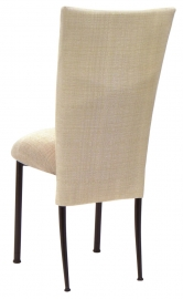 Parchment Linette Chair Cover and Cushion on Brown Legs