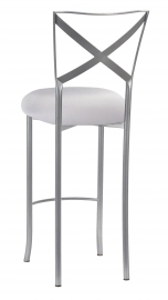 Simply X Barstool with Silver Stretch Knit Cushion