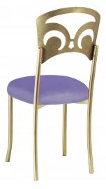 Gold Fleur de Lis with Lavender Velvet Cushion