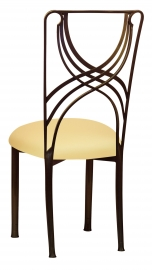 Bronze La Corde with Buttercream Stretch Knit Cushion