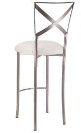 Simply X Barstool with White Leatherette Cushion