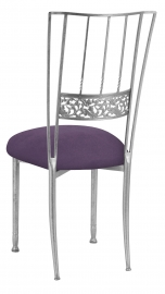 Silver Bella Fleur with Lilac Suede Cushion