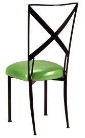 Blak. with Metallic Lime Cushion