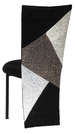 Metropolis with Black Stretch Knit Cushion on Black Legs
