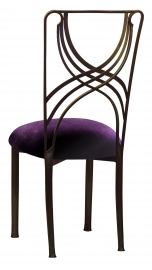 Bronze La Corde with Deep Purple Velvet Cushion