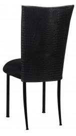 Matte Black Croc Chair Cover with Black Stretch Knit Cushion on Black Legs