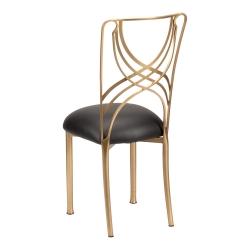 Gold La Corde with Black Leatherette Cushion