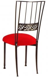 Mahogany Bella Fleur with Million Dollar Red Stretch Knit Cushion