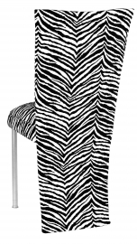 Black and White Zebra Jacket and Cushion on Silver Legs
