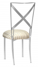 Simply X with Ivory Striped Cushion
