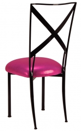 Blak. with Metallic Fuchsia Cushion