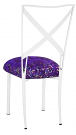Simply X White with Purple Paint Splatter Cushion