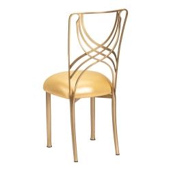 Gold La Corde with Metallic Gold Stretch Knit Cushion