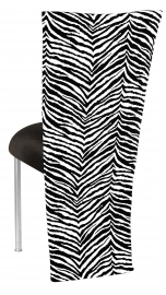 Black and White Zebra Jacket with Black Velvet Cushion on Silver Legs