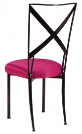 Blak. with Fuchsia Satin Cushion