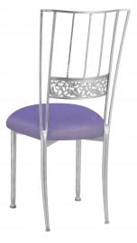 Silver Bella Fleur with Lavender Velvet Cushion