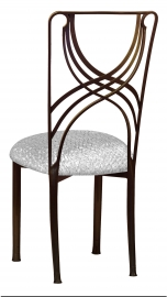 Bronze La Corde with Atomic Silver Stretch Knit Cushion