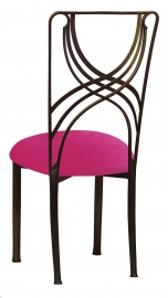 Bronze La Corde with Fuchsia Velvet Cushion