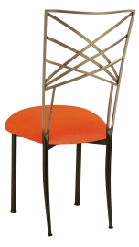 Two Tone Fanfare with Orange Velvet Cushion