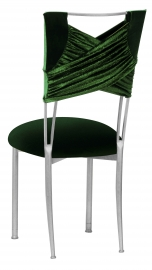 Green Velvet Sweetheart with Green Velvet Cushion on Silver Legs