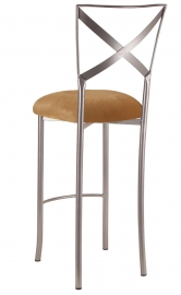 Simply X Barstool with Gold Velvet Cushion