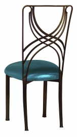 Bronze La Corde with Metallic Teal Stretch Knit Cushion