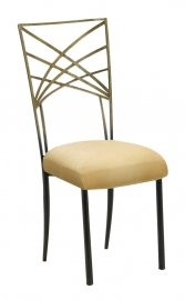 Two Tone Gold Fanfare with Buttercup Suede Cushion