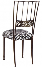 Mahogany Bella Fleur with Zebra Leatherette Cushion