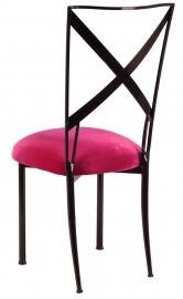 Blak. with Fuchsia Velvet Cushion