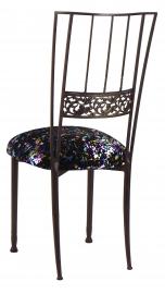 Mahogany Bella Fleur with Black Paint Splatter Knit Cushion