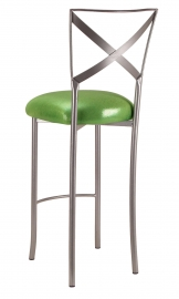 Simply X Barstool with Metallic Lime Cushion