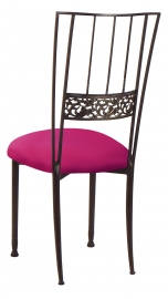 Mahogany Bella Fleur with Fuchsia Stretch Knit Cushion