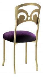 Gold Fleur de Lis with Deep Purple Velvet Cushion